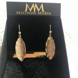 Melinda Maria beautiful earrings. Gold